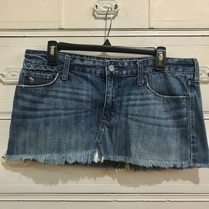 ABERCROMBIE & FITCH / Denim/Jean Mini Skirt / SZ10